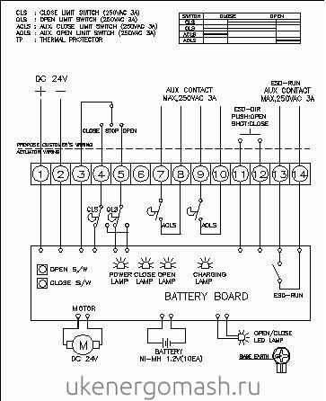 Типовая электрическая схема