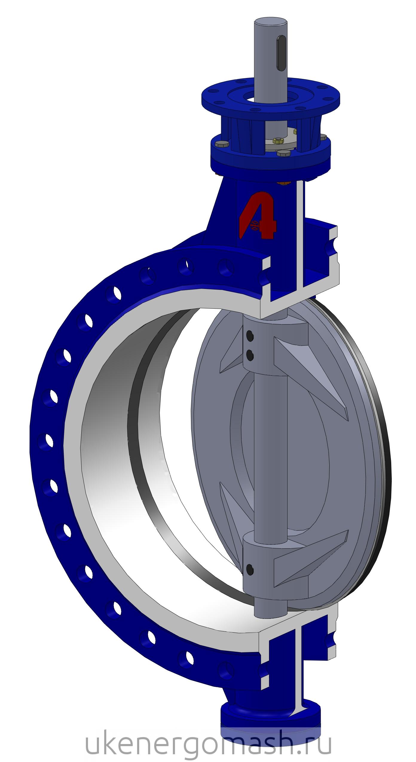 Клапан затвор регулирующий дисковый