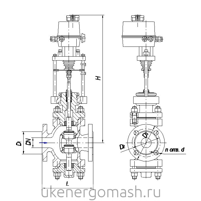 Схема клапана 25нж947нж