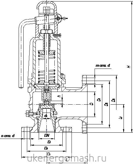 Клапан подрывной схема